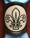 EMBOSSED LEATHER SCOUT WOGGLE