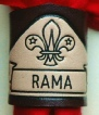 EMBOSSED SCOUT NAME WOGGLE