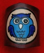 EMBOSSED & COLOURED OWL WOGGLE