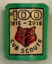 GREEN CUB 100 EMBOSSED WOGGLE