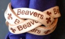 3 STRAND BRANDED WOVEN BEAVER WOGGLE