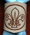 NATURAL LEATHER BRANDED SCOUT WOGGLE