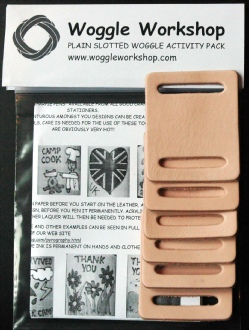 PLAIN SLOTTED LEATHER WOGGLE ACTIVITY PACK