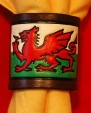 EMBOSSED LEATHER WELSH DRAGON WOGGLE